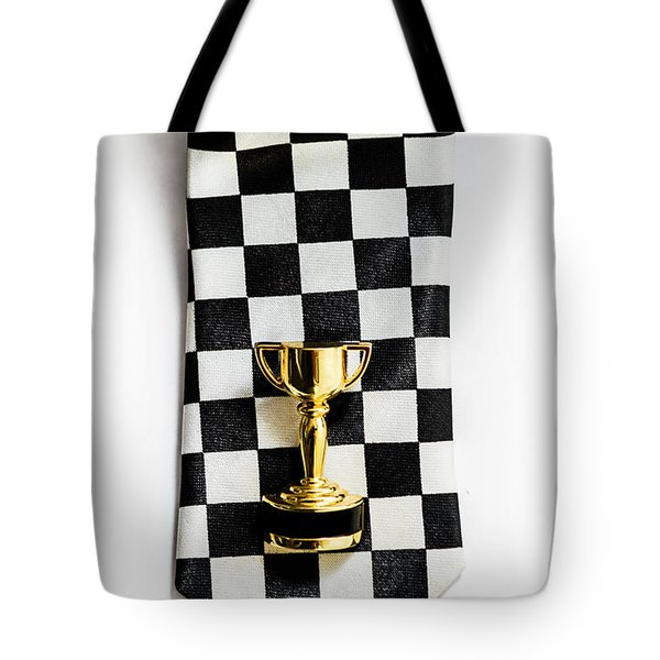 Motor Sport Racing Tie And Trophy Tote Bag