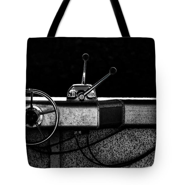 Motorboat Black And White Tote Bag