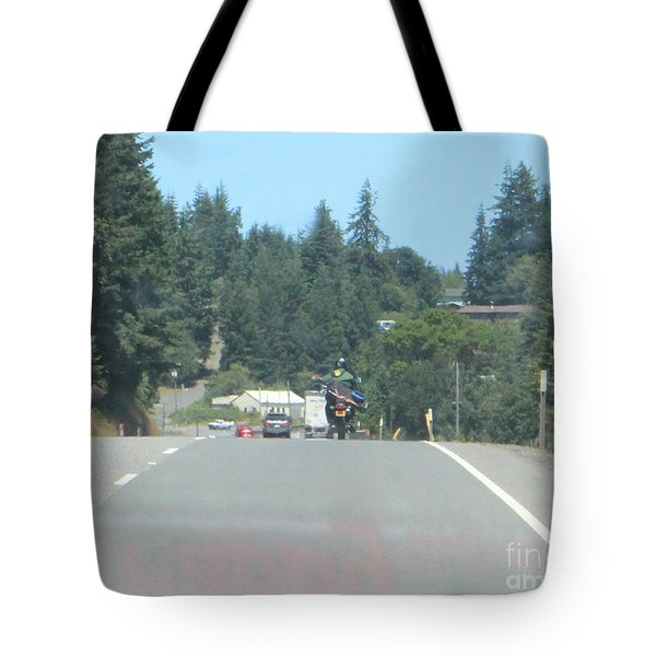 Tote Bag featuring the photograph Motorcycle Club Aka Four by Marie Neder