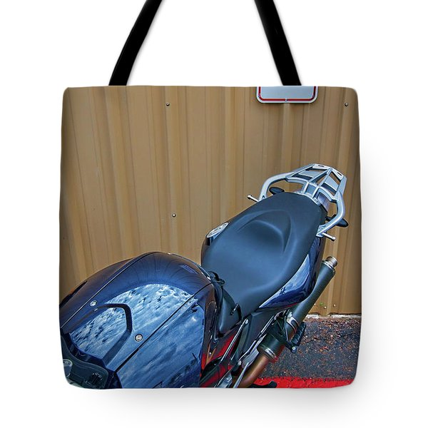 Tote Bag featuring the photograph Motorcycle Privilege by Britt Runyon