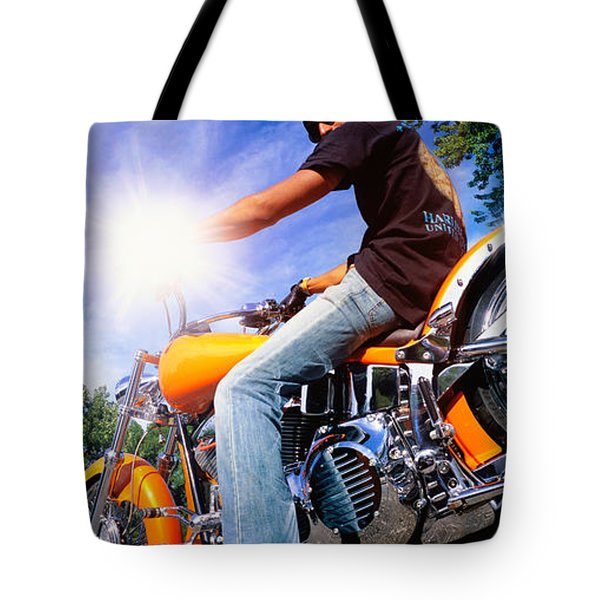 Motorcycle Rider Milwaukee Wi Tote Bag