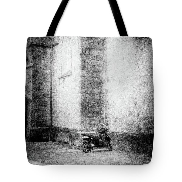 Motorcycles Also Like To Pray Tote Bag by Celso Bressan