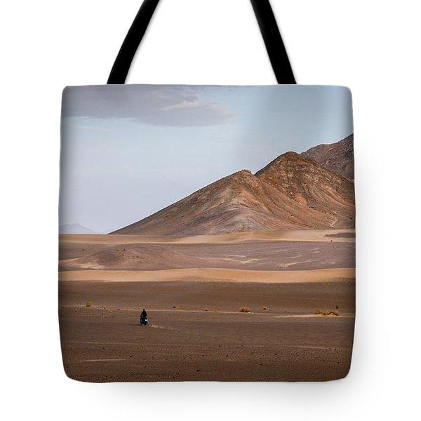 Motorcycles In Persian Desert Tote Bag