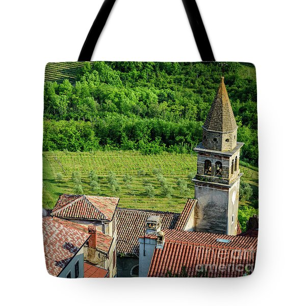 Motovun Istrian Hill Town - A View From The Ramparts, Istria, Croatia Tote Bag