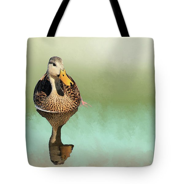 Mottled Duck Reflection Tote Bag