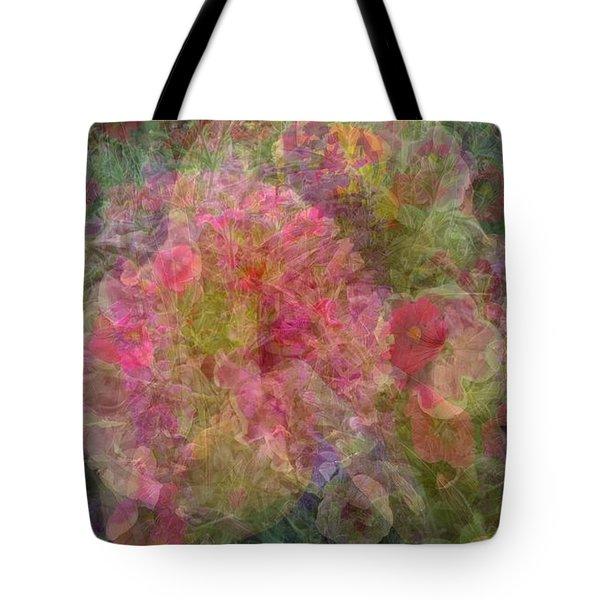 Mottled Pink Collage Pop Tote Bag