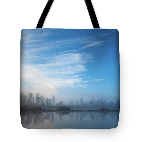 Tote Bag featuring the photograph Mottled Sky by Davor Zerjav