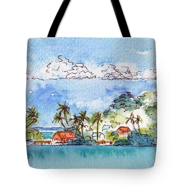Motu Toopua Bora Bora Tote Bag by Pat Katz