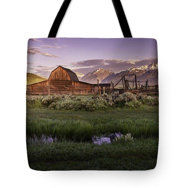 Moulton Barn At Dawn Tote Bag