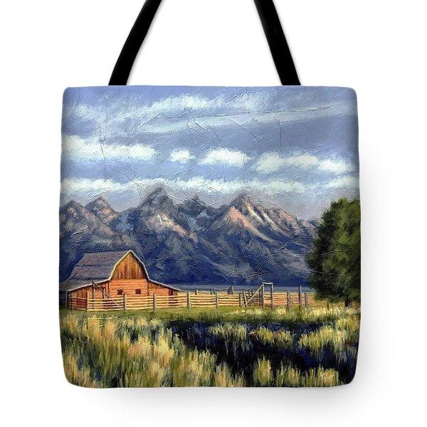 Moulton Barn At The Grand Tetons Tote Bag