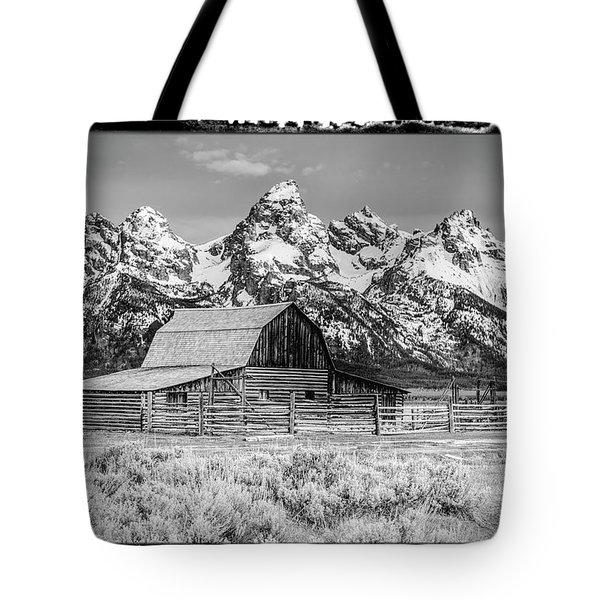 Moulton Barn Black And White  Tote Bag
