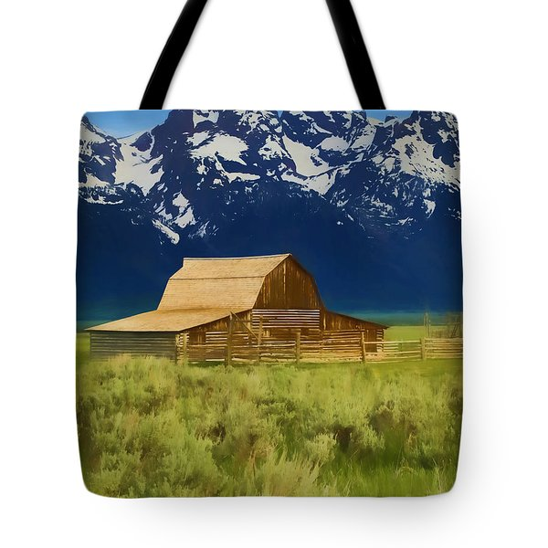 Moulton Barn In Spring Tote Bag