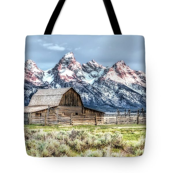 Moulton Barn Mormon Row Grand Tetons Wyoming Tote Bag