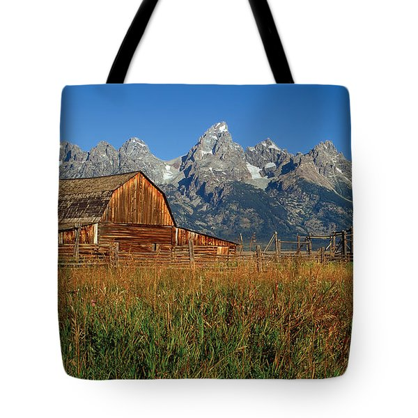 Moulton Barn Pano View Tote Bag
