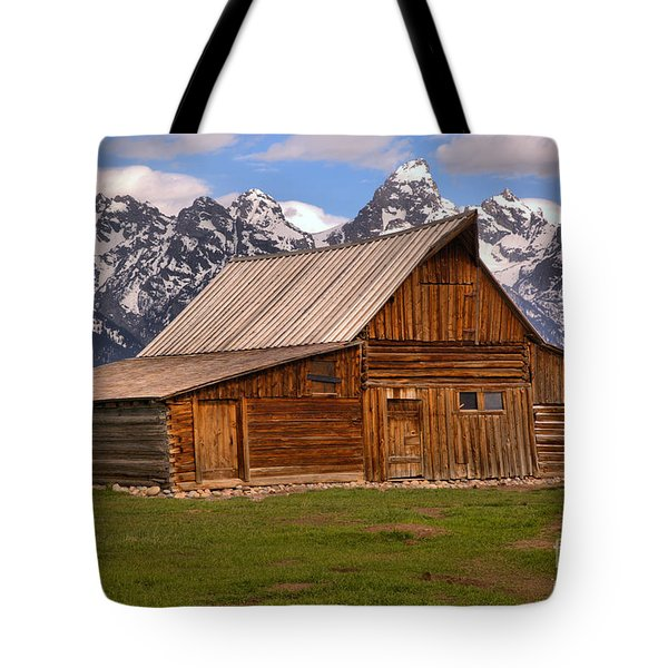 Moulton Barn Spring Landscape Tote Bag by Adam Jewell