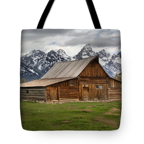 Moulton Barn Spring Storms Tote Bag by Adam Jewell
