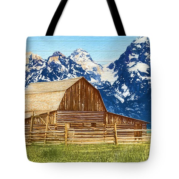 Moulton Barn Wood Panels Tote Bag
