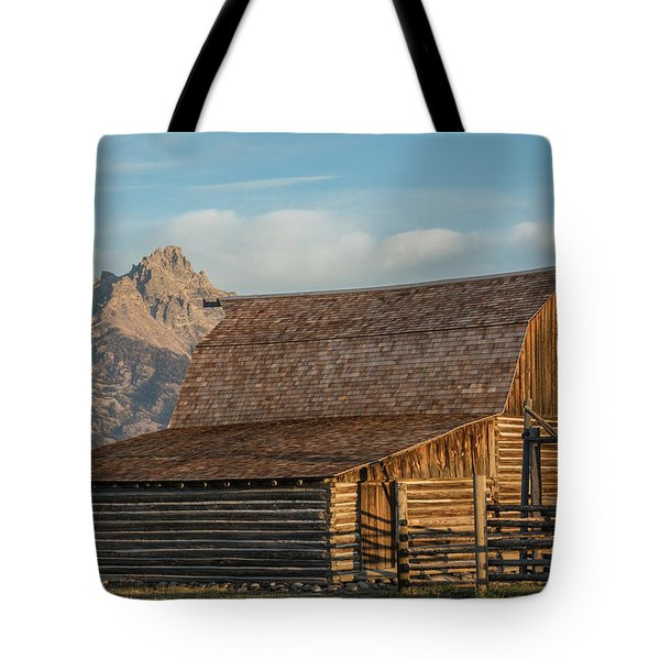 Tote Bag featuring the photograph Moulton Homestead - Barn At Morning Light by Colleen Coccia