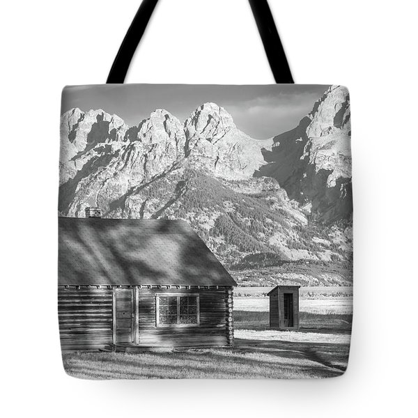 Tote Bag featuring the photograph Moulton Homestead - Bunkhouse by Colleen Coccia