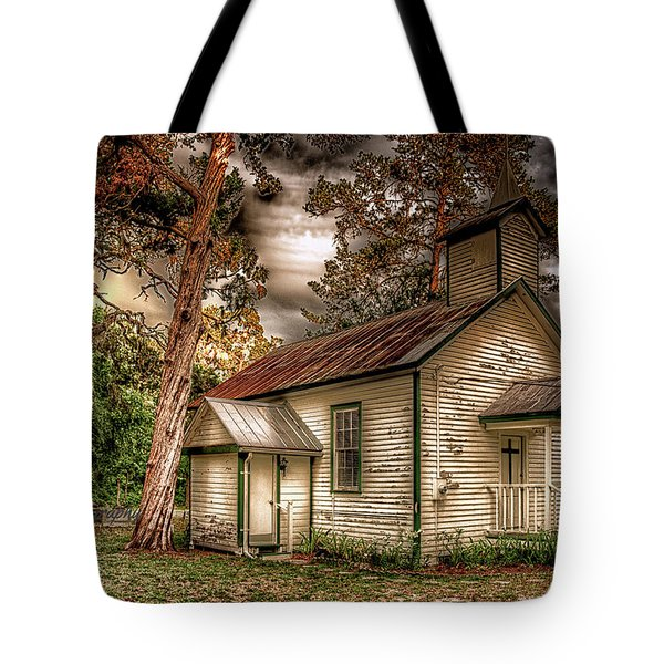 Moultrie Church At Dusk Tote Bag