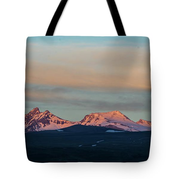 Mount Aragats, The Highest Mountain Of Armenia, At Sunset Under Beautiful Clouds Tote Bag