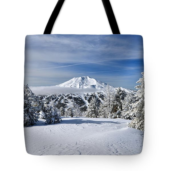 Mount Bachelor Winter Tote Bag