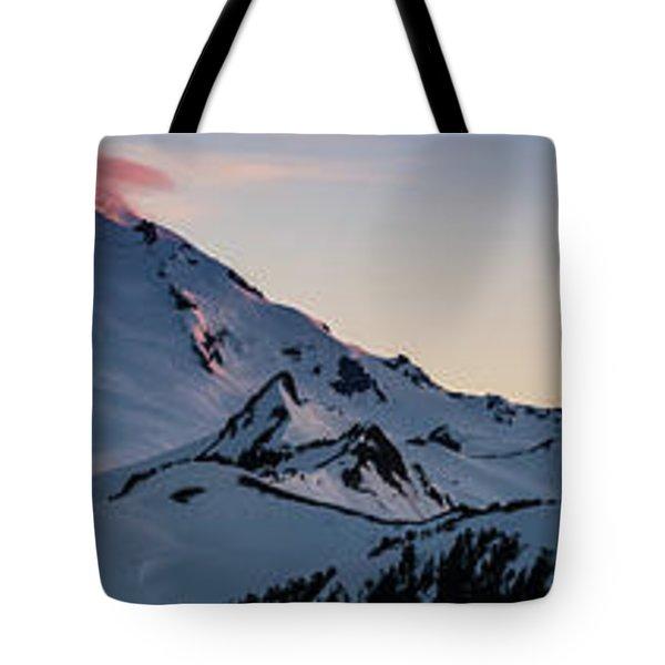 Mount Baker Dusk Panorama Tote Bag