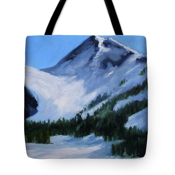 Tote Bag featuring the painting Mount Baker Glacier by Nancy Merkle