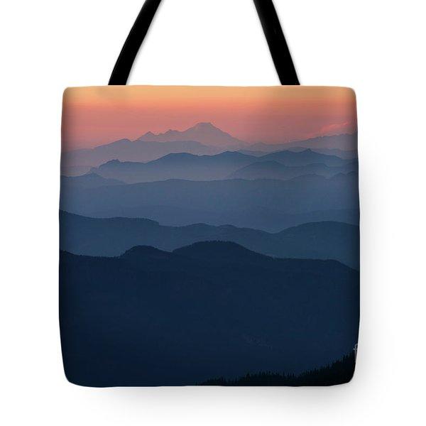 Mount Baker Sunset Landscape Layers Closer Tote Bag