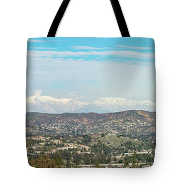 Mount Baldy And Mountain High Tote Bag by Angela A Stanton