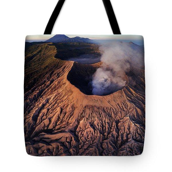 Tote Bag featuring the photograph Mount Bromo At Sunrise by Pradeep Raja Prints
