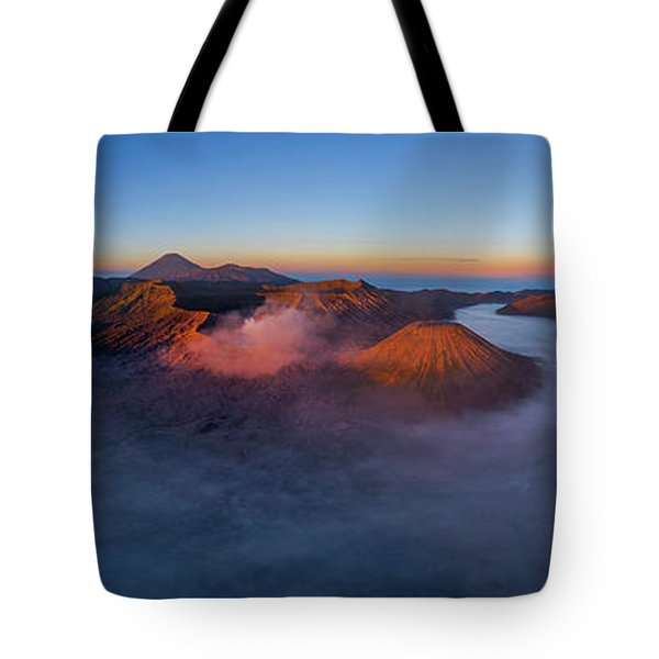 Mount Bromo Scenic View Tote Bag