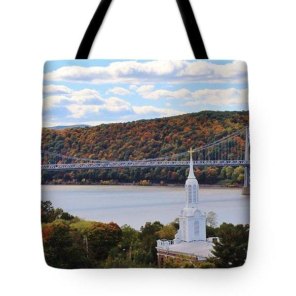 Mount Carmel And The Mid Hudson Bridge Tote Bag
