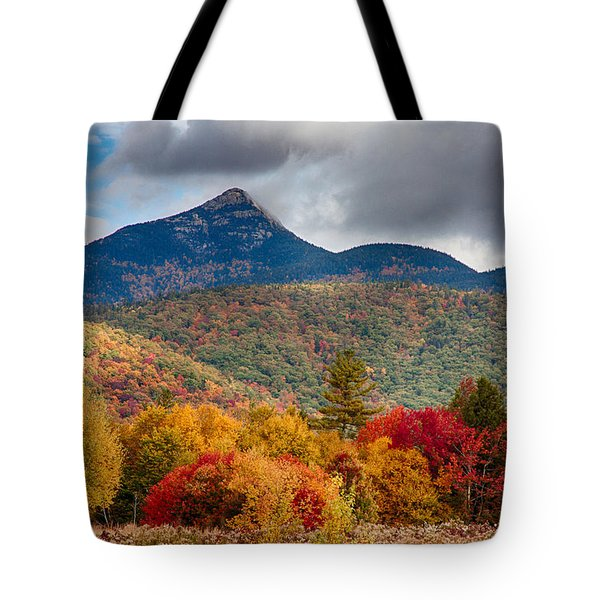 Tote Bag featuring the photograph Peak Fall Colors On Mount Chocorua by Jeff Folger