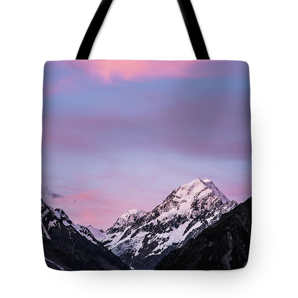 Mount Cook Sunset Tote Bag