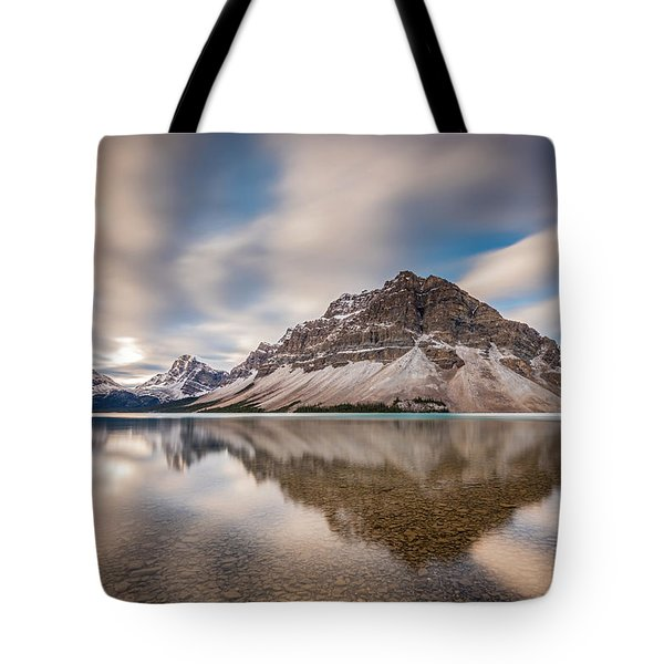 Mount Crowfoot Reflection Tote Bag