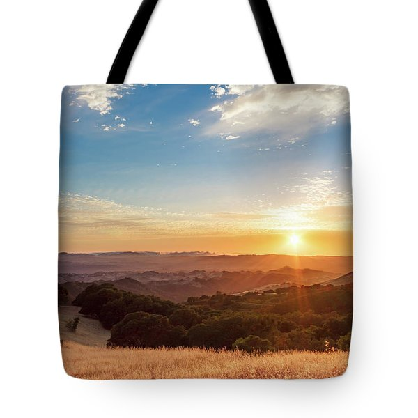 Mount Diablo Sunset Tote Bag