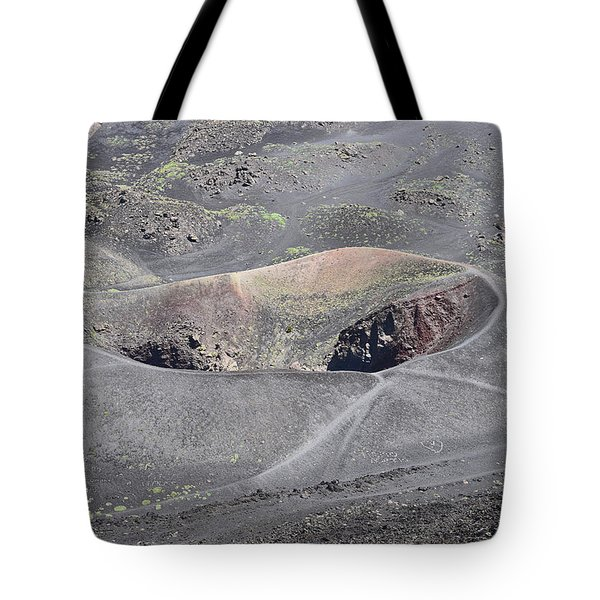 Mount Etna Caldera Tote Bag