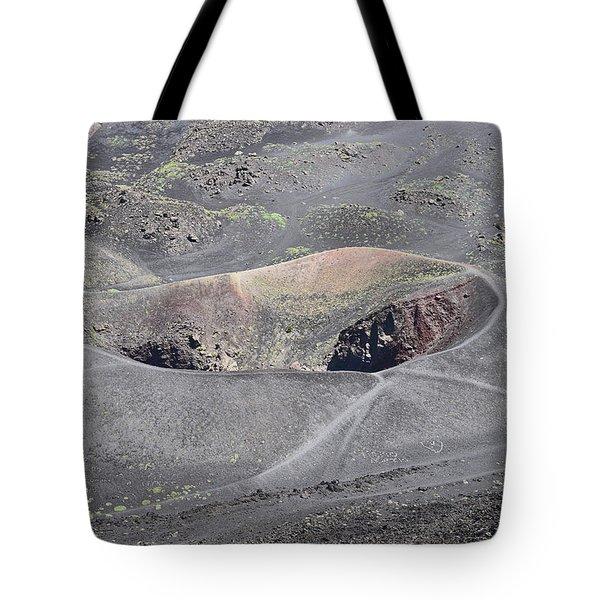 Mount Etna Caldera Tote Bag