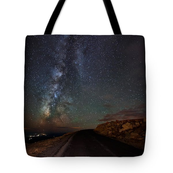 Mount Evans Road To The Milky Way Tote Bag