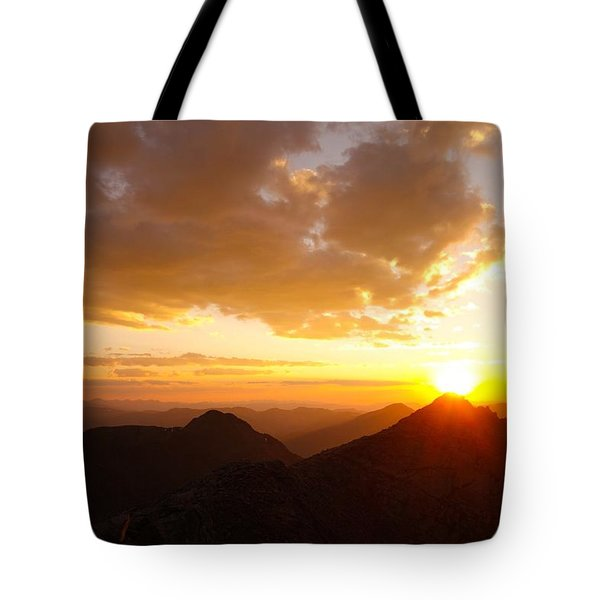 Mount Evans Sunset Tote Bag