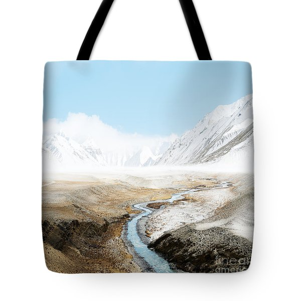 Tote Bag featuring the photograph Mount Everest  by Setsiri Silapasuwanchai