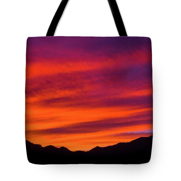 Mount Franklin Purple Sunset Tote Bag