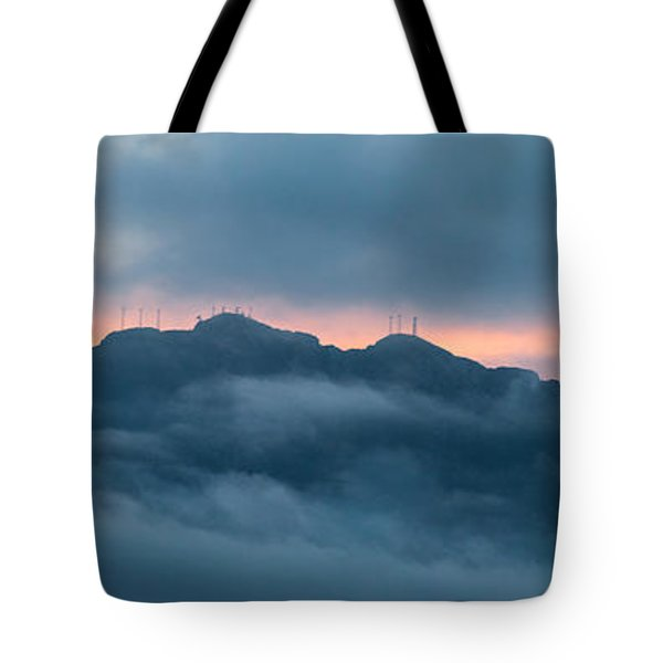 Mount Franklin Stormy Winter Sunset Pano Tote Bag
