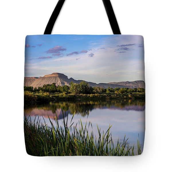 Mount Garfield In The Evening Light Tote Bag