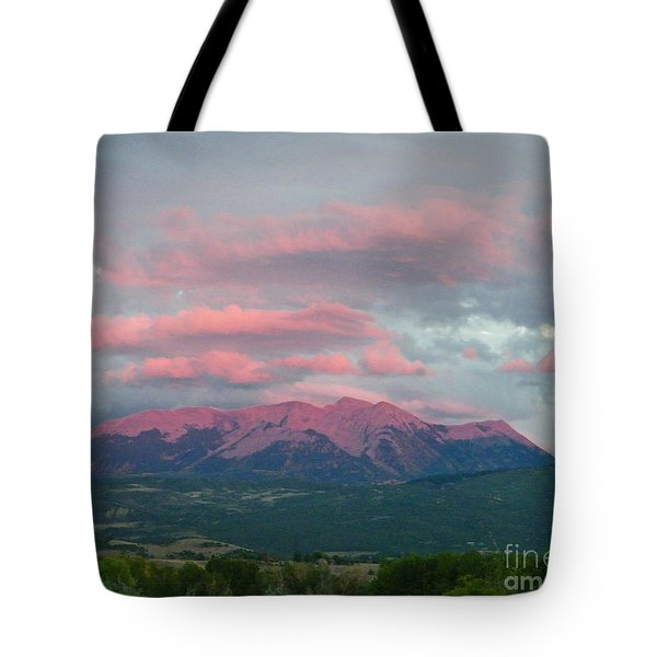 Mount Gunnison Sunset In Colorado Tote Bag