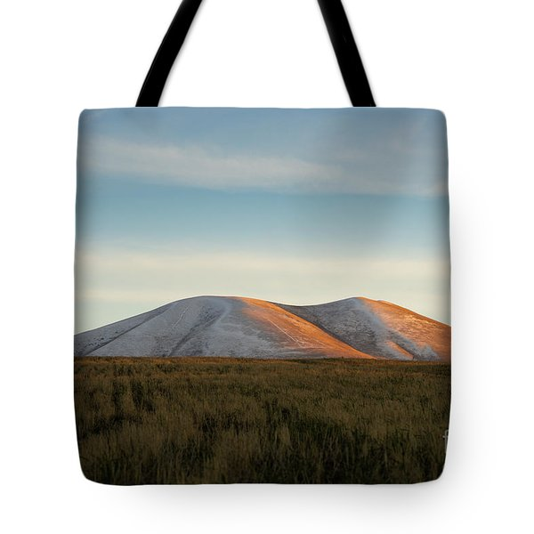 Mount Gutanasar In Front Of Wheat Field At Sunset, Armenia Tote Bag