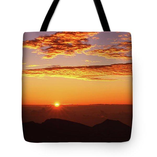 Mount Haleakala Sunrise Tote Bag