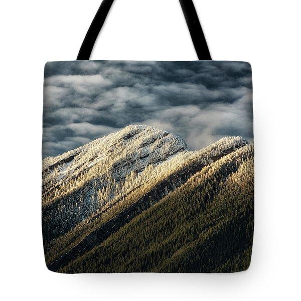 Mount Higgins Clouds Tote Bag