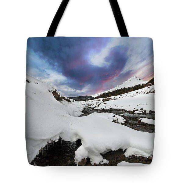 Mount Hood In Winter Tote Bag